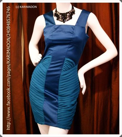 Karimadon Teal Blue Cocktail Dress