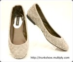 TrunkShow Gray Studded Marian Flats
