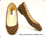 TrunkShow Brown Studded Marian Flats