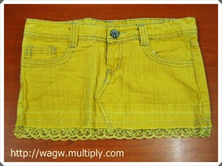 WAGW Nature Made Colored Miniskirt with Lace Extension